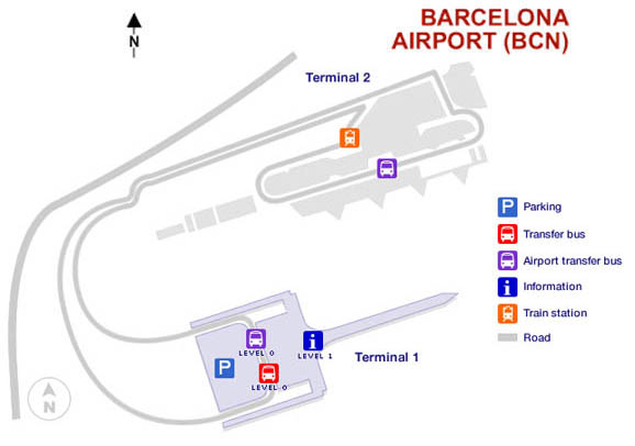 barcelona international airport map Barcelona Airport Bcn Map barcelona international airport map